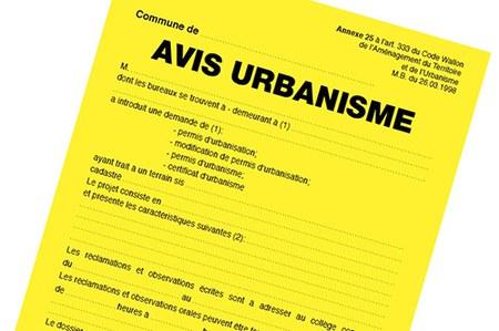Avis d'urbanisme