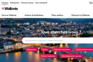 """Nouveau site web """"wallonie.be"""""""