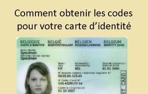 Obtenir les codes pour votre carte d'identité