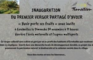 Inauguration du verger partagé d'Yvoir