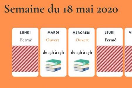 Réouverture Bibliothèque : agenda des semaines à venir